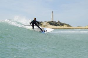 Bettina Kohl Welle Standup-Paddling Andalusien