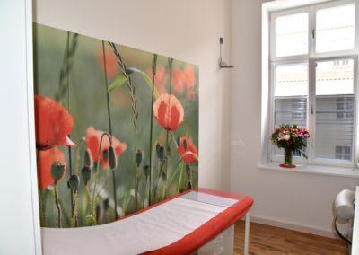 Behandlungsraum im Mohnfeld