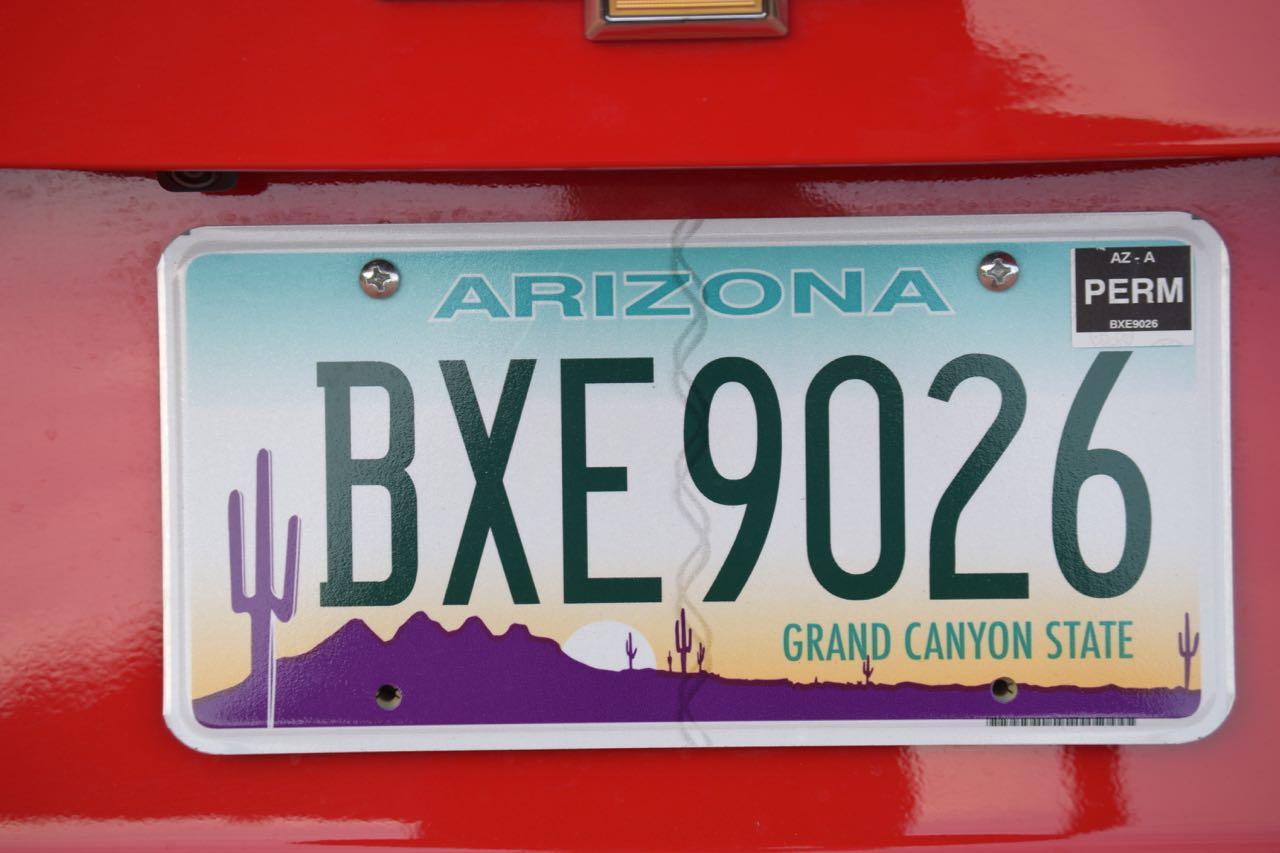 Feng Shui in Arizona Autokennzeichen