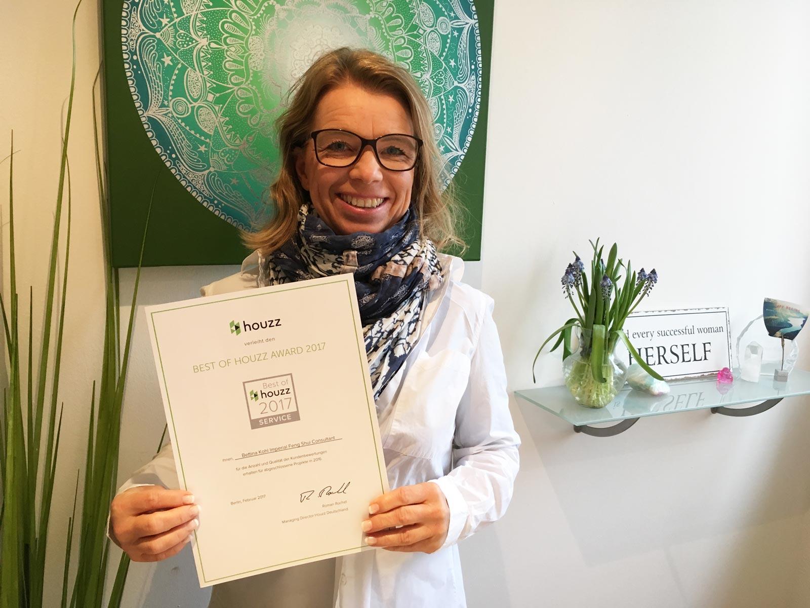 Bettina Kohl Houzz Award 2017
