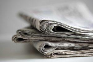 Zeitung schwarz-weiß Feng Shui Medien